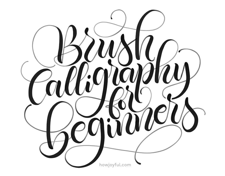 brush calligraphy for beginners